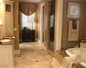 leslie newpher interiors master bath design build