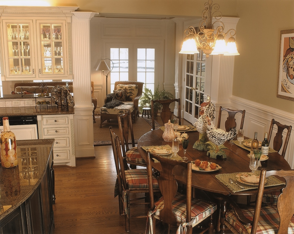 French Country Kitchen  Leslie Newpher Interiors  High-end ...