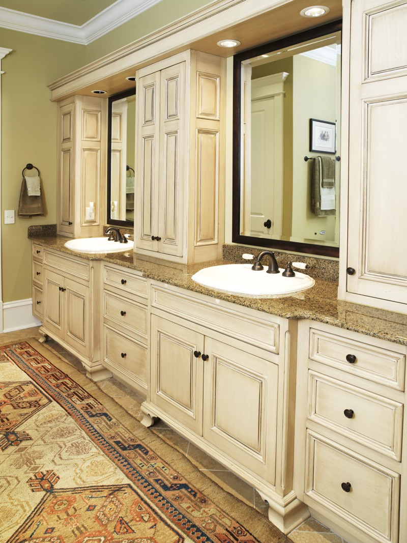 Master bathroom vanity leslie newpher interiors high for Master bath vanities pictures