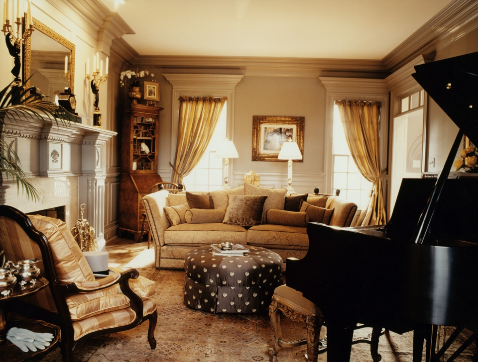 leslie newpher interiors family room music room redesign