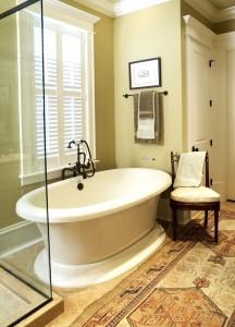 leslie newpher interiors master bath